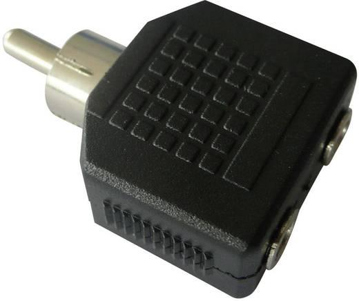 cinch klinke audio adapter 1x cinch stecker 2x klinkenbuchse 3 5 mm schwarz speaka. Black Bedroom Furniture Sets. Home Design Ideas