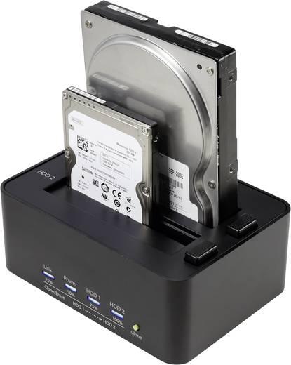 USB 3.0 SATA 2 Port Festplatten-Dockingstation Renkforce rf-docking-08 mit Clone-Funktion, mit Erase-Funktion