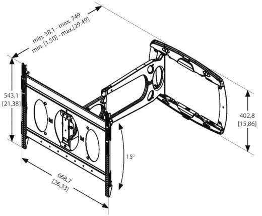 vogel s pfw 6850 tv wandhalterung 81 3 cm 32 182 9 cm 72 neigbar schwenkbar kaufen. Black Bedroom Furniture Sets. Home Design Ideas