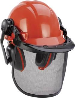 Lesnická ochranná helma Einhell BG-SH 1 4500480, oranžová, černá