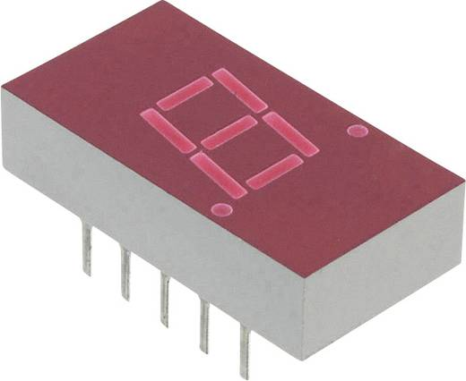 7-Segment-Anzeige Rot 7.62 mm 2.1 V Ziffernanzahl: 1 Broadcom 5082-7613