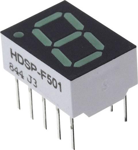 7-Segment-Anzeige Grün 10.16 mm 2.1 V Ziffernanzahl: 1 Broadcom HDSP-F501