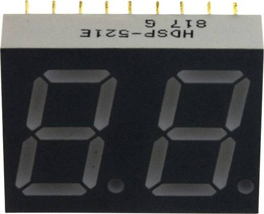 7-Segment-Anzeige Rot 14.22 mm 2.05 V Ziffernanzahl: 2 Broadcom HDSP-521E
