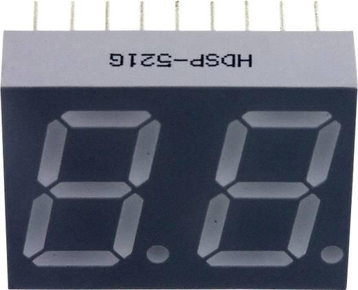 7-Segment-Anzeige Grün 14.22 mm 2 V Ziffernanzahl: 2 Broadcom HDSP-521G