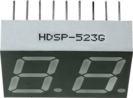 7-Segment-Anzeige Grün 14.22 mm 2 V Ziffernanzahl: 2 Broadcom HDSP-523G
