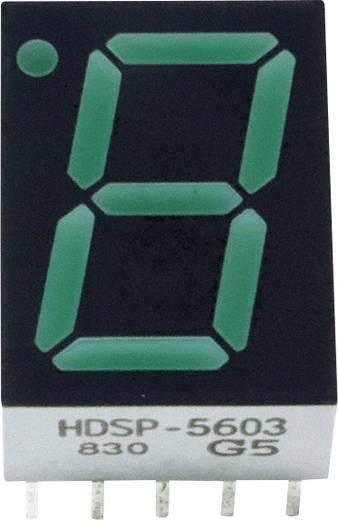 7-Segment-Anzeige Grün 14.22 mm 2.1 V Ziffernanzahl: 1 Broadcom HDSP-5603