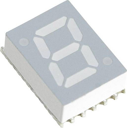 7-Segment-Anzeige Blau 7.11 mm 3.3 V Ziffernanzahl: 1 Broadcom HDSM-281B