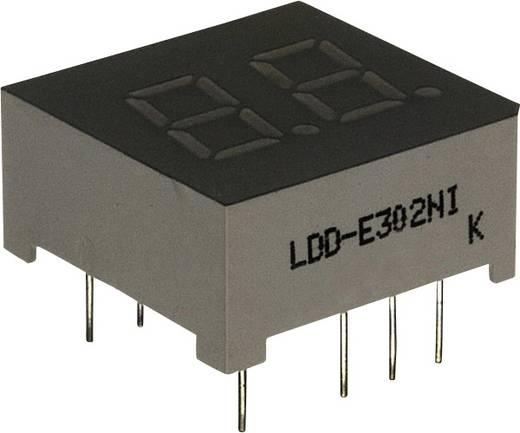 7-Segment-Anzeige Grün 7.62 mm 2.2 V Ziffernanzahl: 2 LUMEX LDD-E302NI