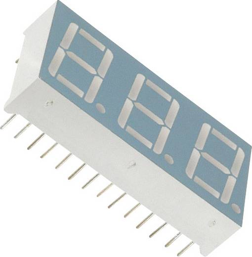 7-Segment-Anzeige Grün 14.22 mm 2.2 V Ziffernanzahl: 3 LUMEX LDT-A512RI