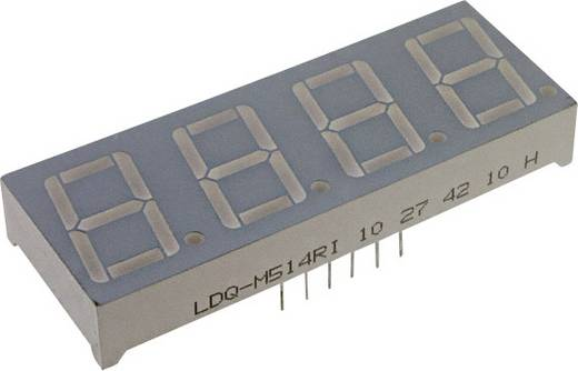 7-Segment-Anzeige Rot 7 mm 1.8 V Ziffernanzahl: 4 LUMEX LDQ-M286RI