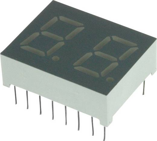 7-Segment-Anzeige Rot 10.2 mm 2 V Ziffernanzahl: 2 LUMEX LDD-C404NI