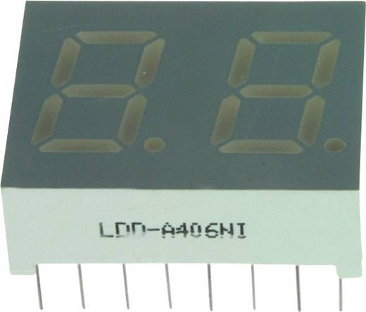 7-Segment-Anzeige Rot 10.2 mm 1.7 V Ziffernanzahl: 2 LUMEX LDD-A406NI