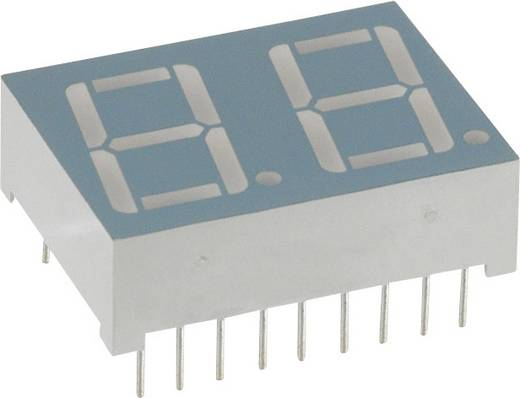 7-Segment-Anzeige Rot 14.2 mm 2 V Ziffernanzahl: 2 LUMEX LDD-A514RI