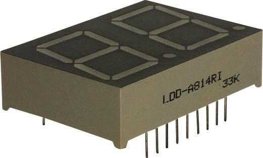7-Segment-Anzeige Rot 20.3 mm 2 V Ziffernanzahl: 2 LUMEX LDD-A814RI