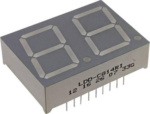 7-Segment-Anzeige Rot 20.3 mm 2 V Ziffernanzahl: 2 LUMEX LDD-C814RI