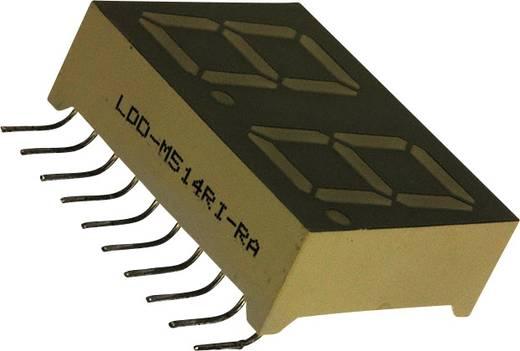 7-Segment-Anzeige Rot 14.2 mm 2 V Ziffernanzahl: 2 LUMEX LDD-M514RI-RA