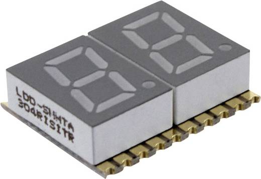 7-Segment-Anzeige Rot 7.62 mm 2 V Ziffernanzahl: 2 LUMEX LDD-SMHTA304RISITR