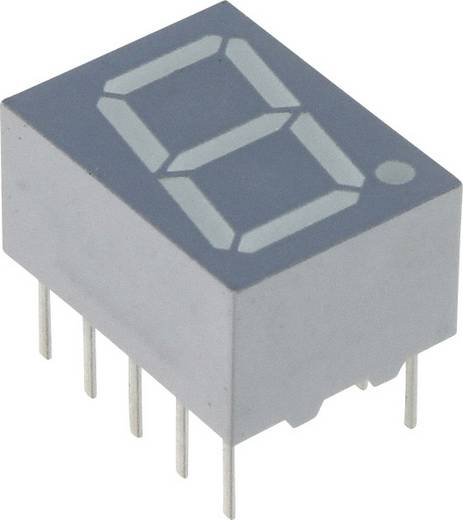 7-Segment-Anzeige Rot 10 mm 1.8 V Ziffernanzahl: 1 Vishay TDSR1060