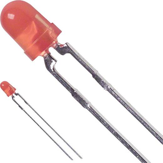 LED bedrahtet Orange Rund 3 mm 7 mcd 60 ° 25 mA 2.2 V Dialight 521-9498F