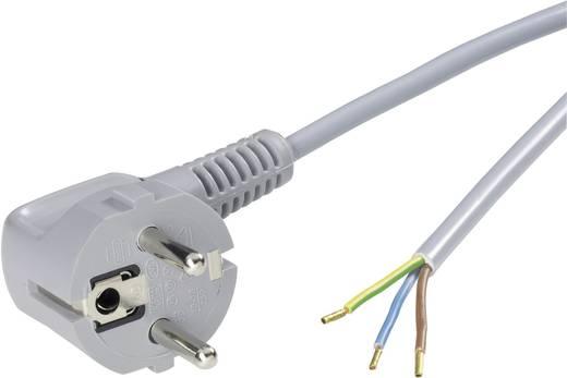Strom Anschlusskabel [ Schutzkontakt-Stecker - Kabel, offenes Ende] Grau 2 m LappKabel 70261137