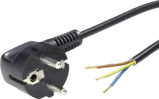 Strom Anschlusskabel [ Schutzkontakt-Stecker - Kabel, offenes Ende] Schwarz 2 m LappKabel 70261140