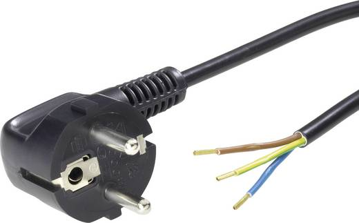 Strom Anschlusskabel [ Schutzkontakt-Stecker - Kabel, offenes Ende] Weiß 1.50 m LappKabel 70261151