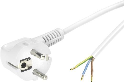 Strom Anschlusskabel [ Schutzkontakt-Stecker - Kabel, offenes Ende] Weiß 2 m LappKabel 70261134