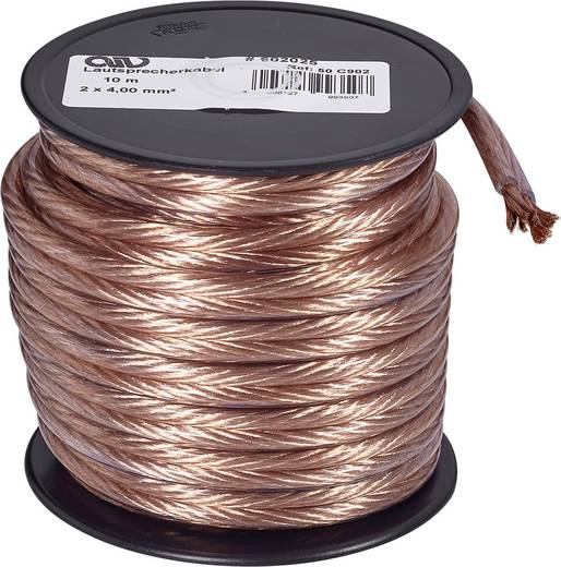 Lautsprecherkabel 2 x 4 mm² Kupfer AIV 23560L 10 m