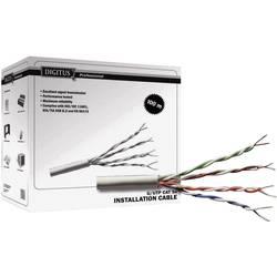 Síťový kabel CAT 6 - UTP, Digitus, 4x2x0.25 mm², šedý,