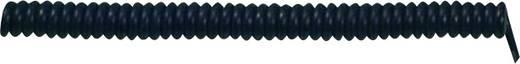 Spiralkabel X05VVH8-F 500 mm / 1500 mm 3 x 0.75 mm² Schwarz LappKabel 73222339 1 St.