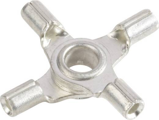 Quetschverteiler Querschnitt (max.)=1 mm² Loch-Ø=4 mm Unisoliert Metall Vogt Verbindungstechnik 3509a4 1 St.