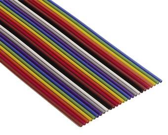 Flachbandkabel mit verschiedenfarbigen Adern