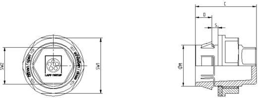Kabelverschraubung mit Knickschutz M32 Polyamid Silber-Grau (RAL 7001) LappKabel SKINTOP® CLICK BS 32 1 St.