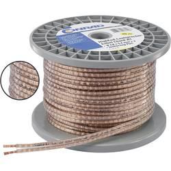 Reproduktorový kabel Conrad Components 603962, 2 x 1.31 mm², transparentní, 30 m