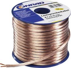 Câble haut-parleur TRU COMPONENTS 1572262 2 x 0.75 mm² transparent 30 m