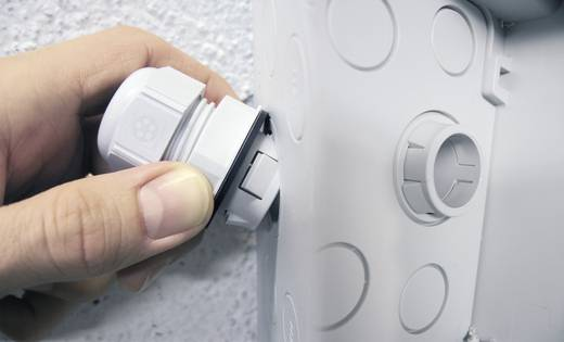 Kabelverschraubung M16 Polyamid Licht-Grau (RAL 7035) LappKabel SKINTOP® CLICK 16 1 St.