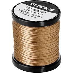 Měděný drát smaltovaný lakem Block CLI 200/90, Vnější Ø (vč. izolace) 0.10 mm, 1 balení