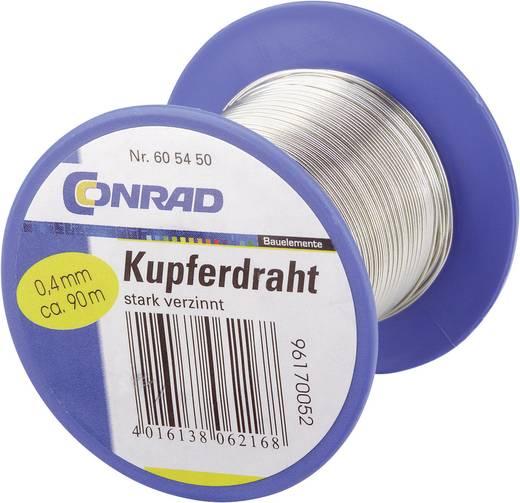 Kupferdraht Außen-Durchmesser (ohne Isolierlack): 0.40 mm 90 m Conrad Components