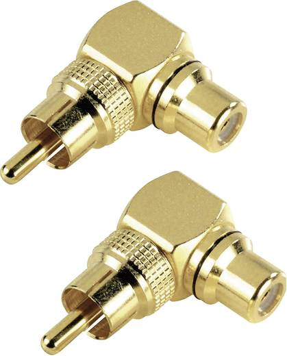 Cinch Audio Adapter [1x Cinch-Stecker - 1x Cinch-Buchse] Gold Hama