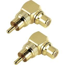 Cinch audio adaptér Hama 44087, zlatá