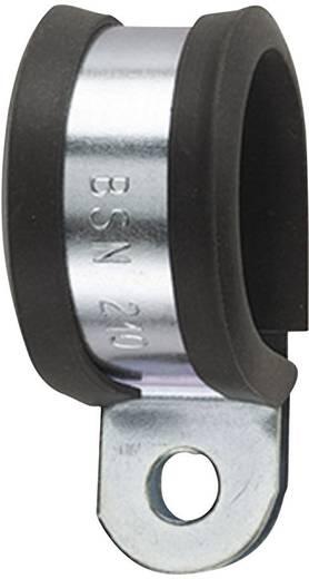 Befestigungsschelle schraubbar mit Chloropren-Schutzprofil Metall, Schwarz HellermannTyton 166-50604 AFCS25 1 St.