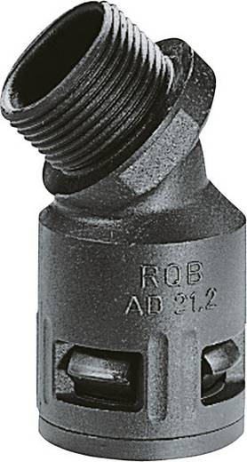 Schlauchverschraubung Schwarz M20 16.50 mm 45° LappKabel 55502846 SILVYN® KLICK 45°B IP66 20x1,5/2 BK 1 St.