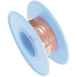 Navíjací drôt TRU COMPONENTS 1564480 Wire Wrap, 1 x 0.08 mm², vonkajší Ø 0.53 mm, 15 m, červená
