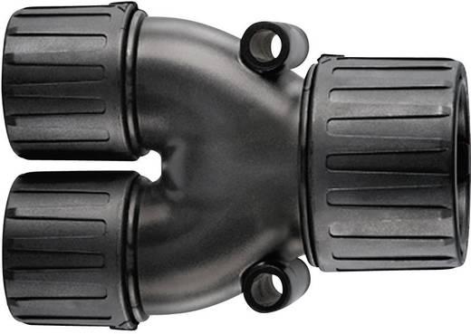 Y-Verteiler Schwarz 21 mm, 16 mm, 16 mm HellermannTyton 166-25802 HG21-Y16 1 St.