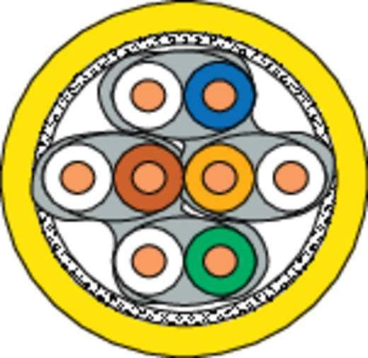 Netzwerkkabel CAT 7a S/FTP 4 x 2 x 0.25 mm² Gelb DRAKA 1001088-00100RW Meterware
