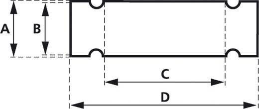Zeichenträger Montage-Art: Kabelbinder Beschriftungsfläche: 58 x 12 mm Passend für Serie Universaleinsatz, Einzeldrähte