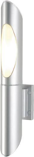 Außenwandleuchte Energiesparlampe, LED E27 15 W SLV Ovis 228602 Silber-Grau