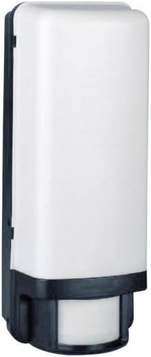 Smartwares ES88 SW Außenwandleuchte mit Bewegungsmelder Energiesparlampe, LED E27 60 W Schwarz, Weiß