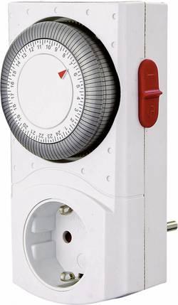 Spínací zásuvka s časovačem GAO, EMT2400, 3680 W, IP20, analogová, denní