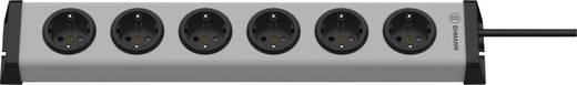 Steckdosenleiste ohne Schalter 6fach Grau, Schwarz Schutzkontakt Ehmann 0200x00062301